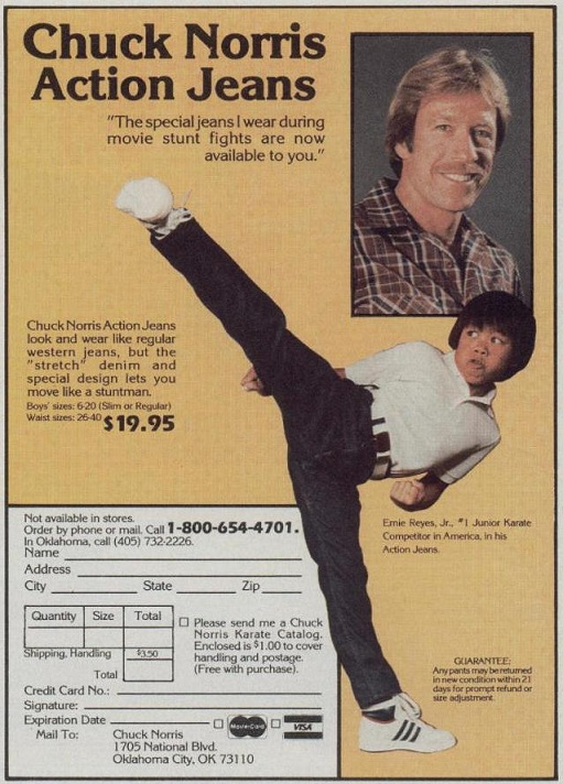 Ernie Reyes Jr.'s jeans can kick your ass!